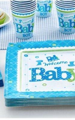 Welkom Baby boy blauw feestartikelen