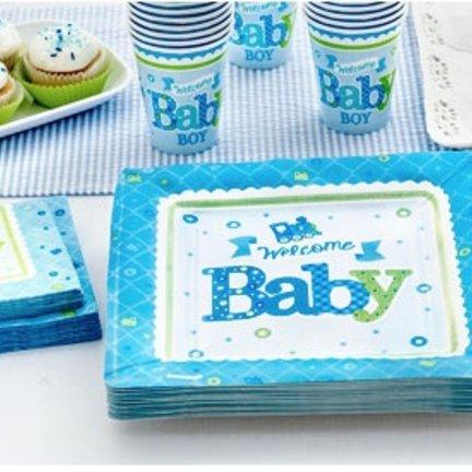Welkom Baby boy blauw feestartikelen,uniek&groot aanbod