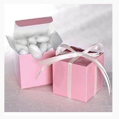 Bedank doosje licht roze vierkant