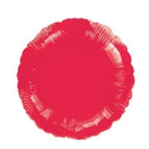 Folie ballon rood rond