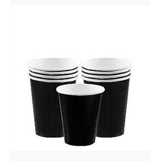 Zwarte koffie bekers