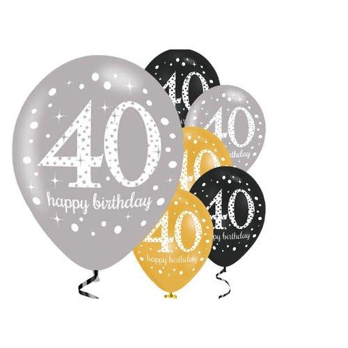 40 jaar feestartikelen versiering uniek aanbod j for Goud zwart versiering
