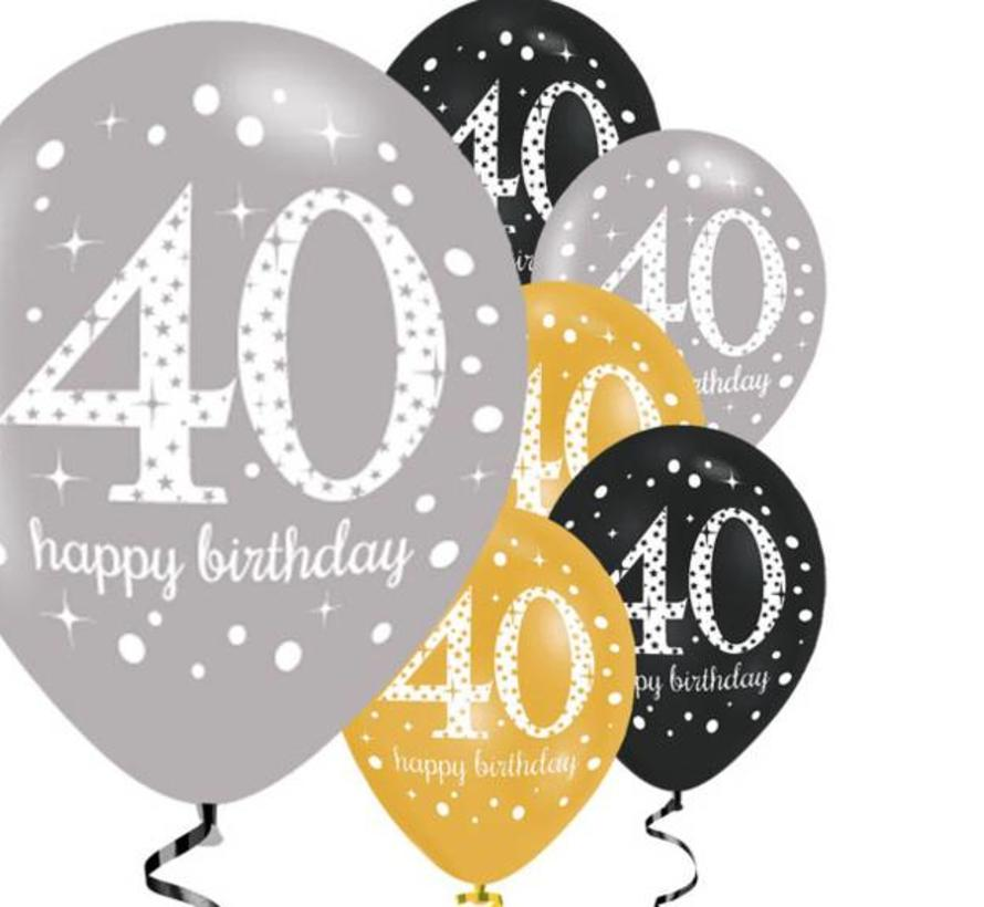 40 jaar 40 jaar ballonnen goud | J Style Deco.nl |   J style deco  Online  40 jaar