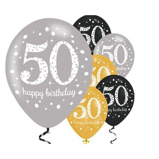 50 jaar ballonnen goud