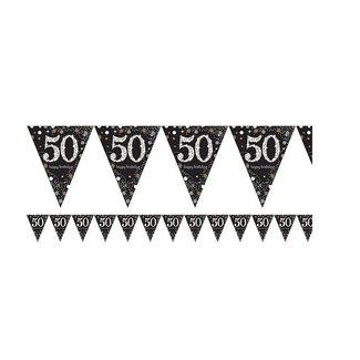 50 jaar vlaggetjes goud
