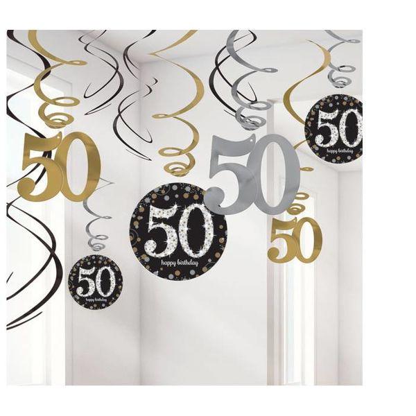 50 jaar swirl slingers goud j style de online for Decoratie 60 jaar