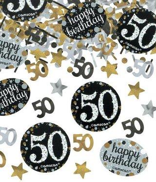 50 jaar feestartikelen versiering groot aanbod j for Goud zwart versiering