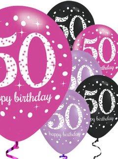 50 jaar 50 jaar ballonnen roze | J Style Deco.nl | De online feestwinkel  50 jaar