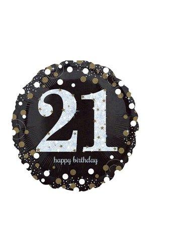 21 jaar folie ballon j style deco online feestwinkel - Kamerjongen jaar deco ...