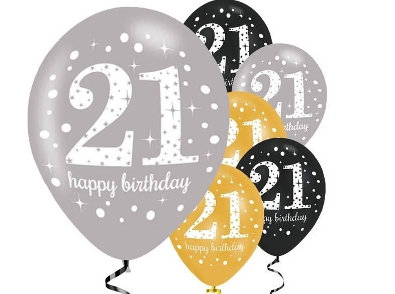 21 jaar ballonnen zwart goud j style de online for Goud zwart versiering