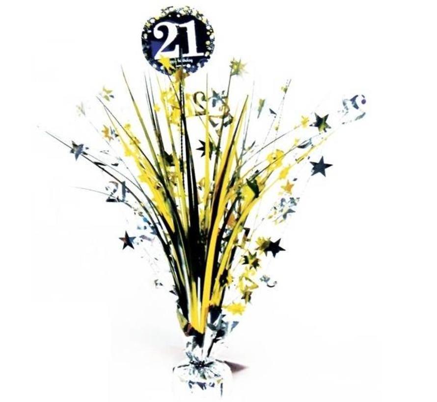 21 jaar tafel decoratie zwart goud j style for Goud zwart versiering