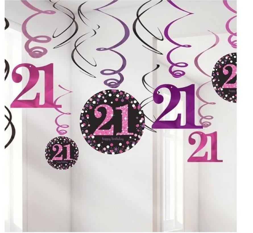Uitzonderlijk 21 jaar hang slinger roze/zwart| J-Style-Deco.nl | De online  @AI93