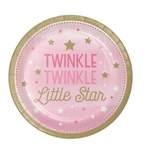 Twinkle little star roze bordjes