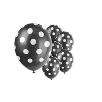 Ballonnen polka dot zwart
