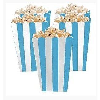 Popcorn bakjes licht blauw