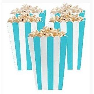 Popcorn bakjes turquoise