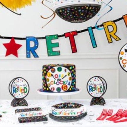 Pensioen feestartikelen vindt je voordelig en snel in de online feestwinkel van J-style-deco.nl