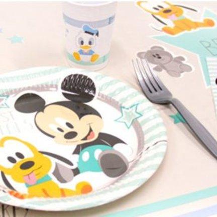 Baby mickey mouse feestartikelen voor een jongen