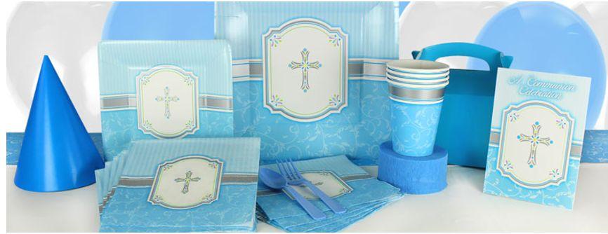Communie blauw feestartikelen vindt je voordelig en snel in de online feestwinkel van J-style-deco.nl