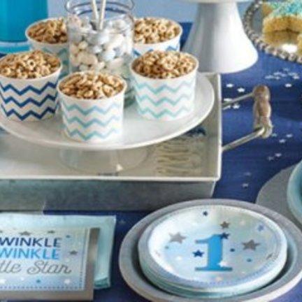Twinkle twinkle little star blauw feestartikelen voor een jongen