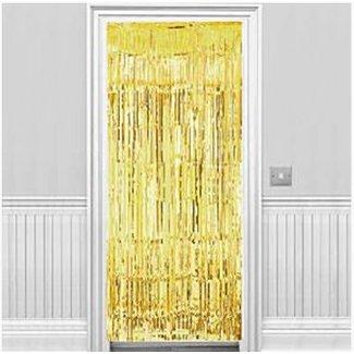 Goud deur gordijn / zilver