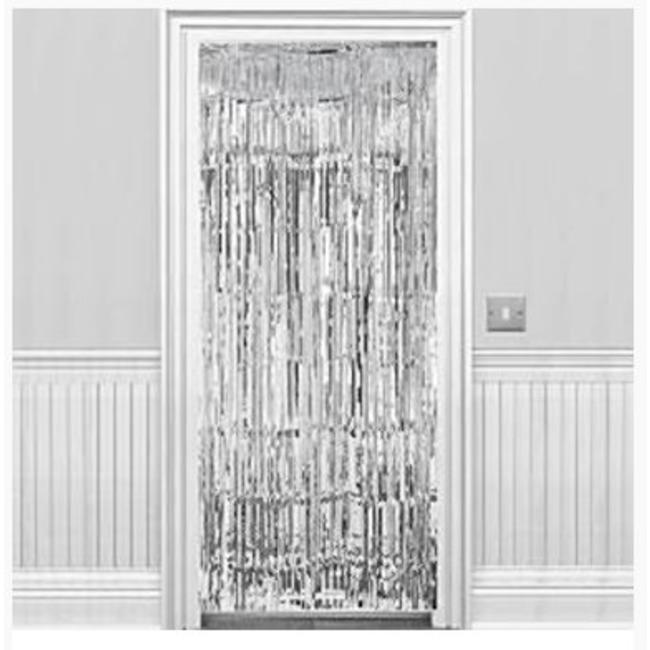 deur gordijn in de kleur goud of zilver
