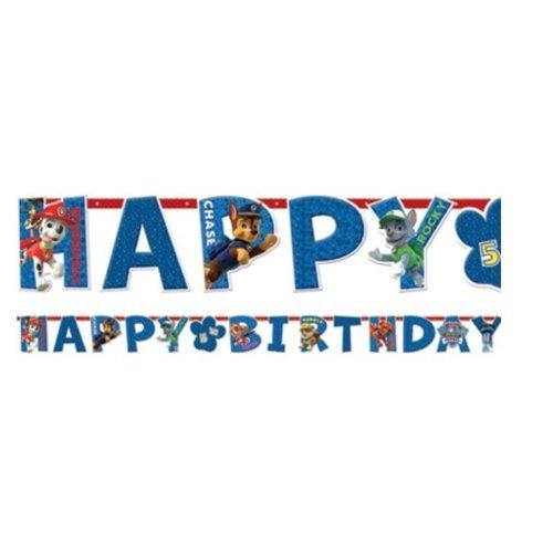 Paw Patrol happy birthday slinger