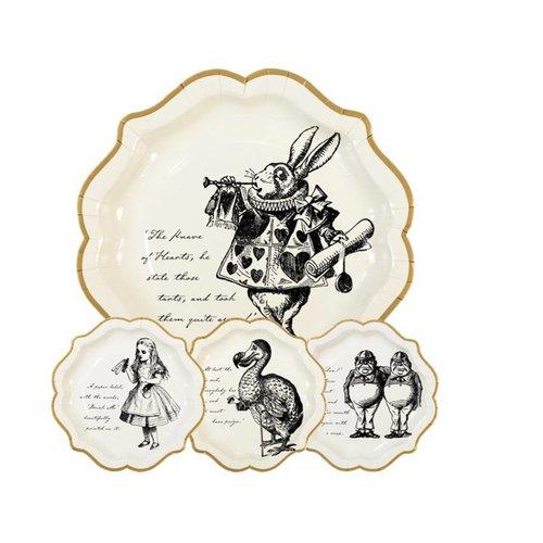 Alice in wonderland borden creme