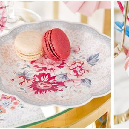 Pastel flower versiering en feestartikelen