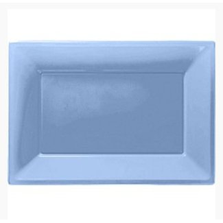 Licht blauwe serveerschalen