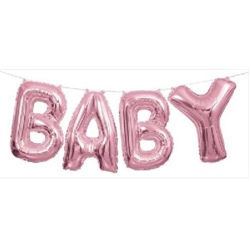 Baby roze tekst slinger