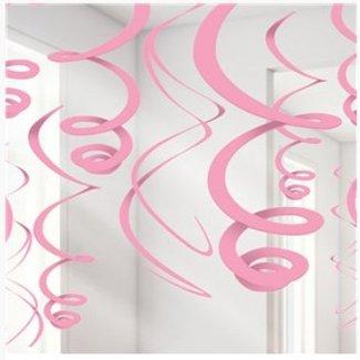 Licht roze hang slinger
