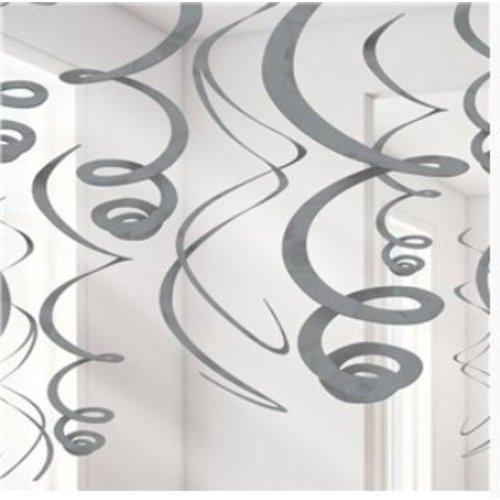 Zilveren hang slingers