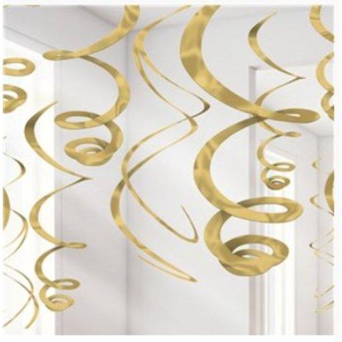 Gouden hang slingers