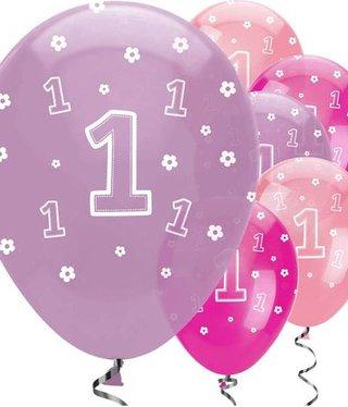Fun to be one roze feestartikelen versiering j style deco online feestwinkel - Deco slaapkamer meisje jaar ...