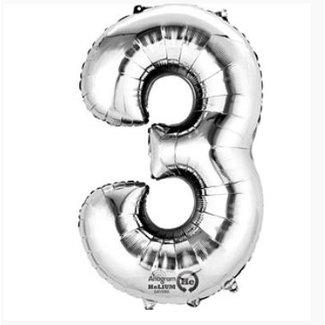 Cijfer ballon zilver