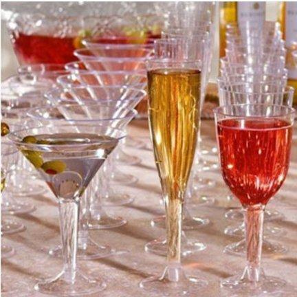 Plastic champagne,martini,borrel glazen en wijn glazen vindt je hier!