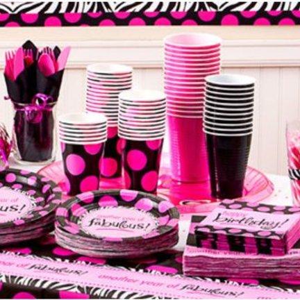 Black & pink feestartikelen een unieke zwart met roze collectie die je niet wil missen en je shopt hem hier!