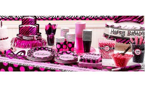 Black & Pink feestartikelen