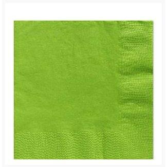 Lime groen servetten L