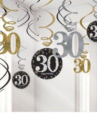 30 jaar feestartikelen versiering groot aanbod j for Goud zwart versiering