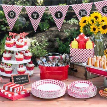 Barbecue feestartikelen en versiering