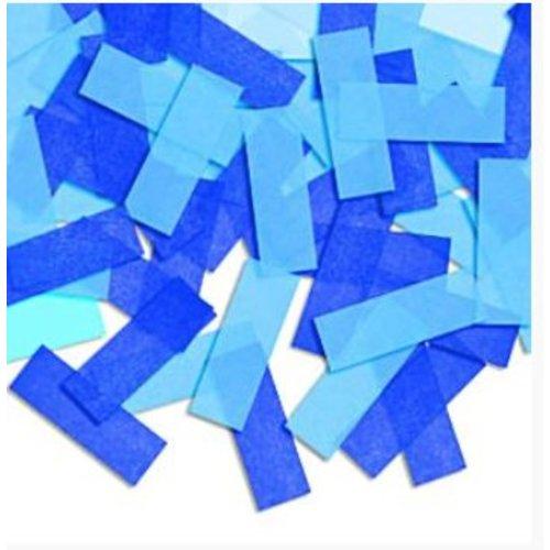 Blauwe tissue confetti