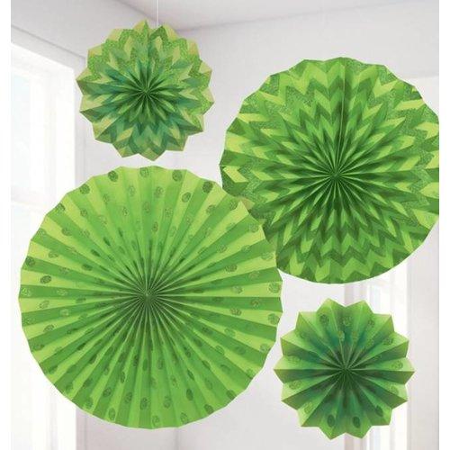 Lime groen glitter waaiers