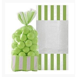 Candy buffet zakjes lime groen