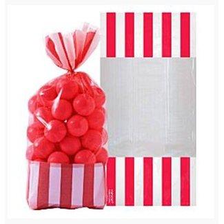 Candy buffet zakjes rood