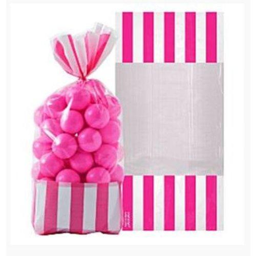 Candy buffet zakjes roze