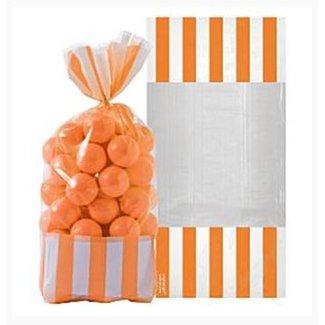 Candy buffet snoepzakjes oranje