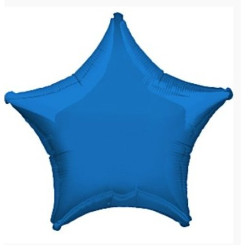 Blauwe ster ballon