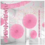 Licht roze versiering pakket